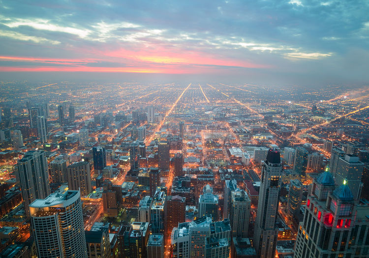 Chicago Skyline Architecture Architecture_collection Chicago Chicago Architecture City Nightphotography Skyline Sunset_collection United States Airiel View America Architecture Awesome_shots Building Exterior Buildings & Sky Buildings Architecture Chicago ♥ City Cityscape Cityscapes No People Outdoors Sky Sunset Tourism