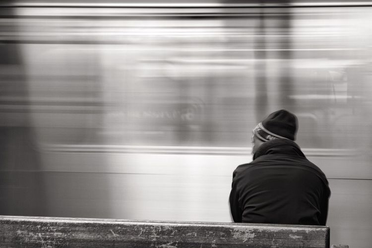 Train Subway Station Subway Movement Man Manhattan Blackandwhitephotography Blackandwhite Black & White Station