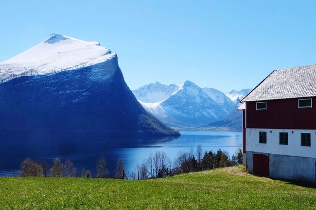 Norwegian landscape, May 2017 Tranquil Scene Visitnorway Visitmoreogromsdal Norway Beauty In Nature Mountain Range Springtime Travel Destinations Nature Water Outdoors