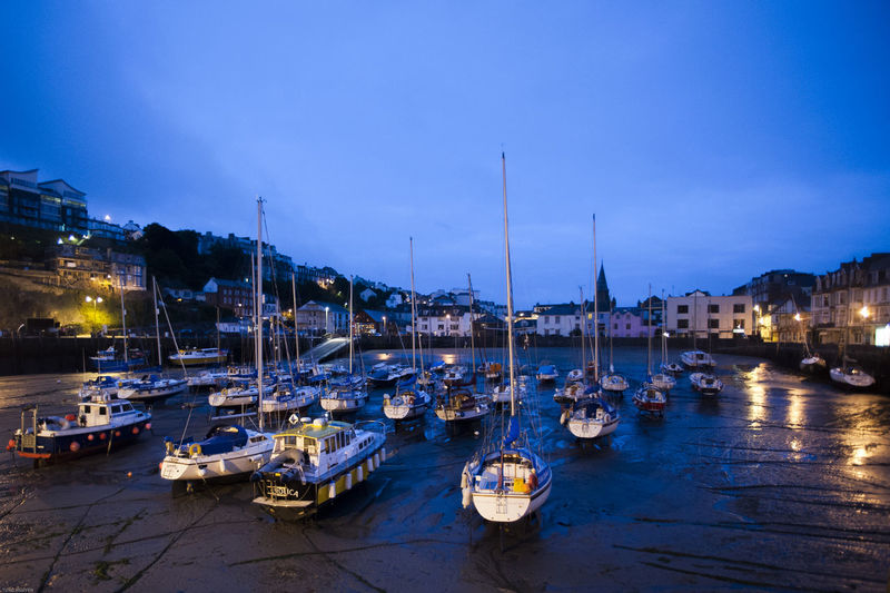 Blue Hour Coastline Devon Devon Coast Anchored Blue Sky Boat Dawn Dusk England Habour Harbor Nature Night Outdoors Reflection Sailboat Sky Vessel Water Yacht First Eyeem Photo