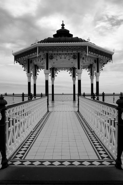 The Bandstand Bandstand Black & White Architecture Blackandwhite Brighton Seafront Building Exterior Built Structure Cloud - Sky Day Outdoors Railing Sea Sky Water