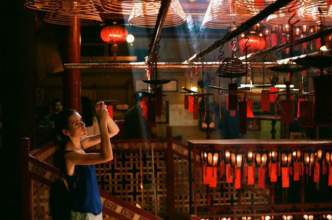 Man Mo Temple (Hong Kong) Hong Kong Man Mo Temple Nikon F2 Agfa Vista200 135film Street Photography First Eyeem Photo People temple