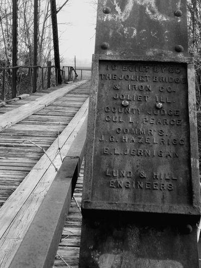 Day Outdoors No People Sky Wood Bridge Steele Bridge Scenics Black And White Old Bridge