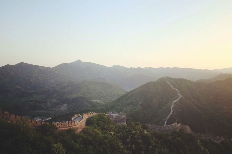 Great Wall China No People Hike Great Wall Of China Mountain Landscape Nature Day Hikers China Beauty In Nature Scenics Outdoors View Mountains