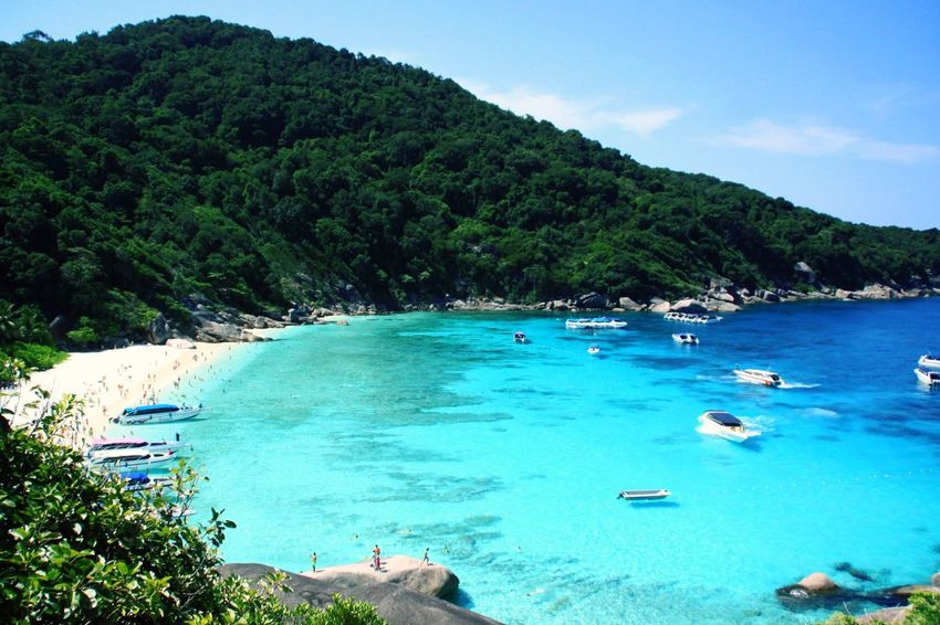 Landscapes With WhiteWall Similans Beauty Nature Sea Emerald Coast Beach Crowded