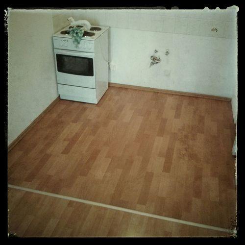 Der neue PVC-Boden ist verlegt. Da kann die Küche morgen kommen... :) Friedrichshain Heimwerkeln