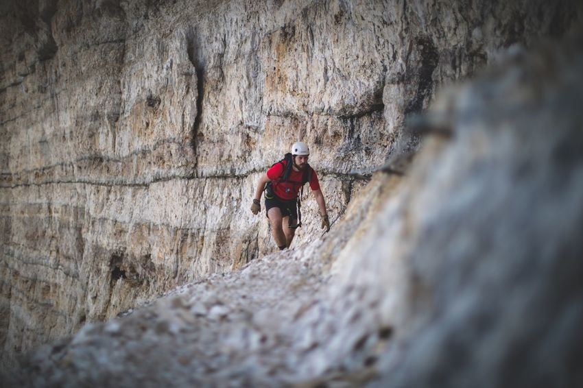 Layers over layers. Rock - Object Rock Climbing Climbing Adventure Sport One Person Challenge Outdoors Nature Outside Dolomites, Italy Mountain