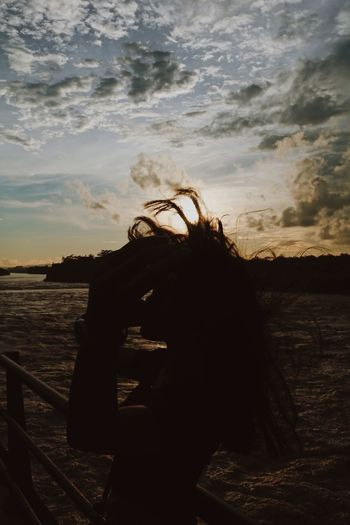 My Sunset. Relationship Goals Beach EyeEm Indonesia One Person Sky Water Real People Sunset Outdoors Nature First Eyeem Photo