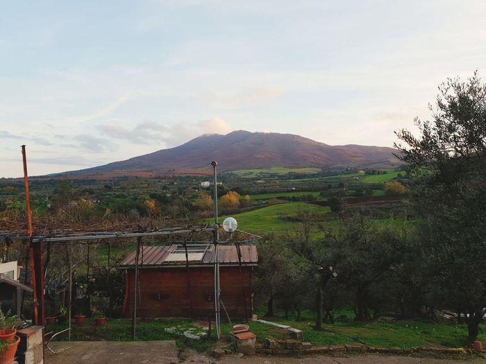 Nature Montagne Monte Vulture Tree Irrigation Equipment Sky