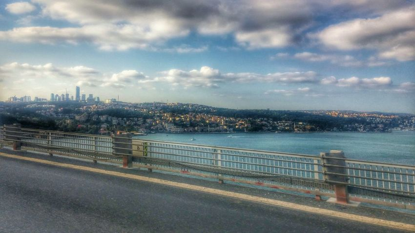 Istanbul Turkey Istanbulbogazi Fatihsultanmehmet Fatihsultanmehmetköprüsü Bridge Europe Asian  Sea Sky Clouds And Sky