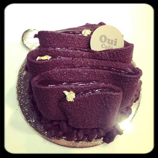 哇~~~亮亮的發光耶~脆米巧克力~ ヾ(☆▽☆) 我今天吃了一張鈔票!!!(T▽T) Delicious Chocolate Cake Relaxing