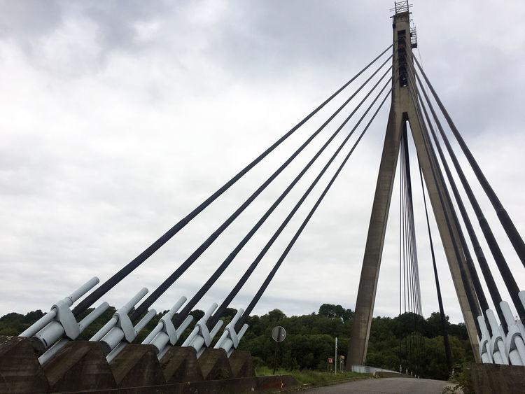 5-9-2017 Belgium Visé Architecture Bridge - Man Made Structure Brıdge Built Structure Cloud - Sky Connection No People Sky