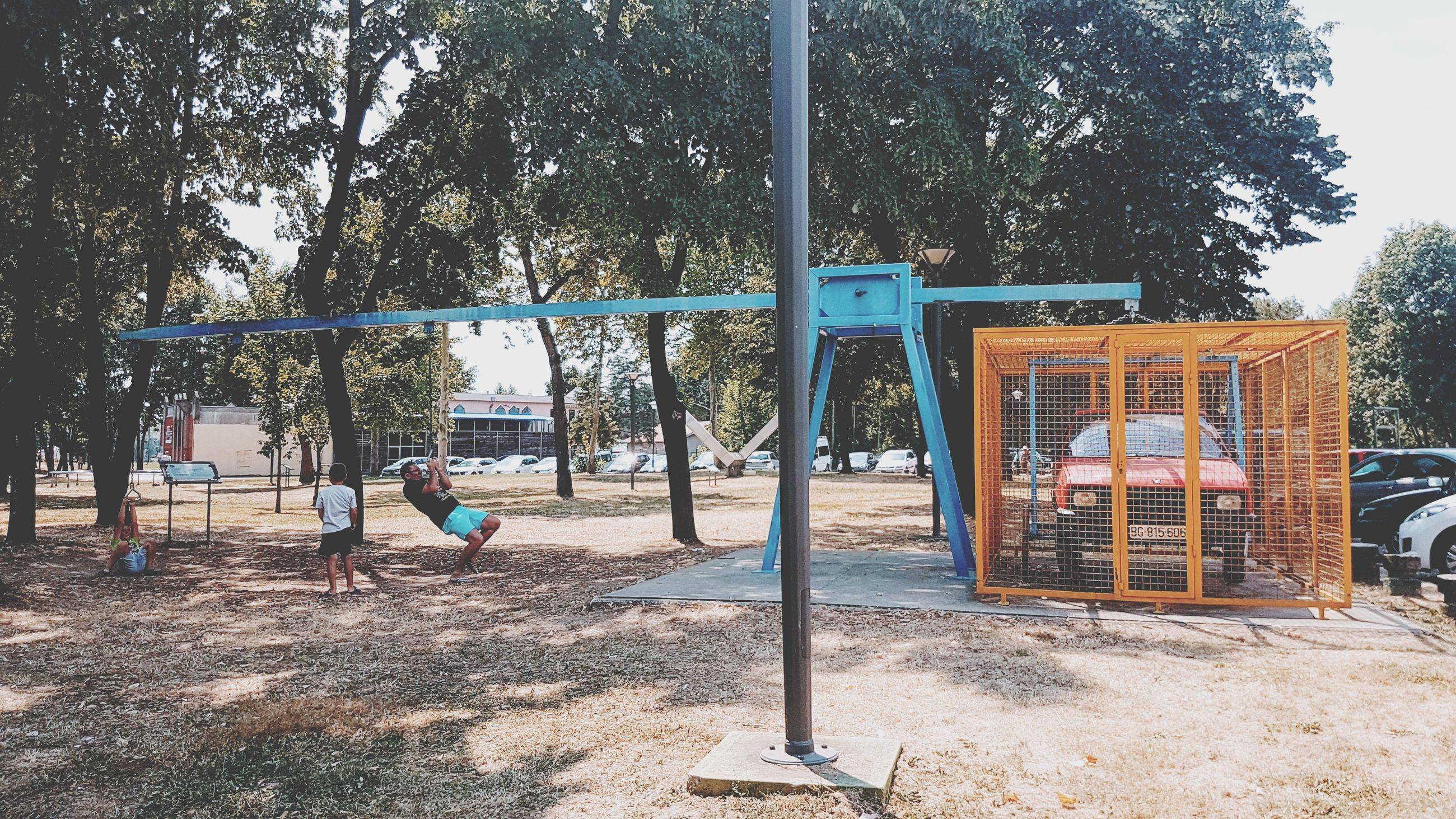 tree, playground, day, men, full length, outdoors, playing, real people, people