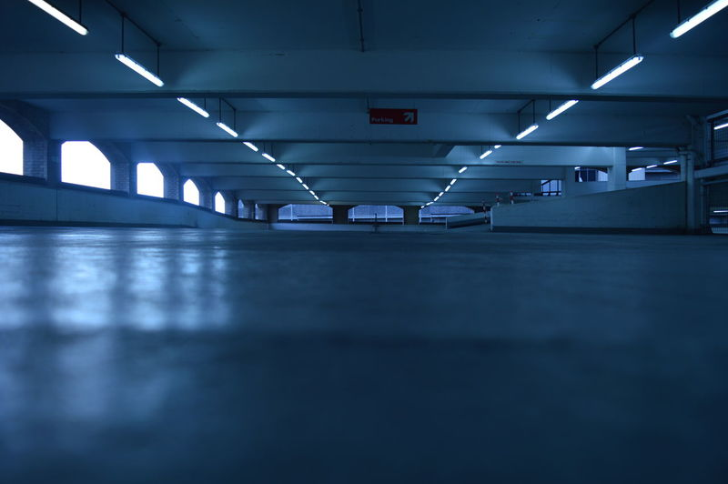 Surface Level Of Empty Corridor