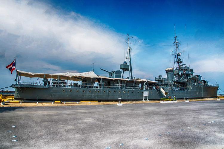 Battle Ship Boat Chulachomklao Fort Defense Destroyer Education HTMS Mae Klong Phra Chulachomklao Fort Samutprakan Samutprakanthailand Ship Thailand Transportation War Ship