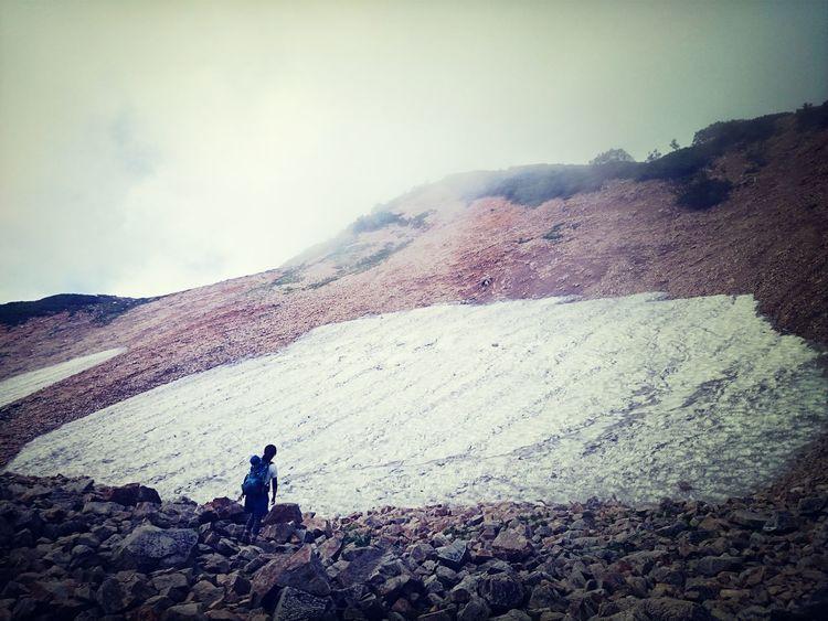 雪渓。涼しい。