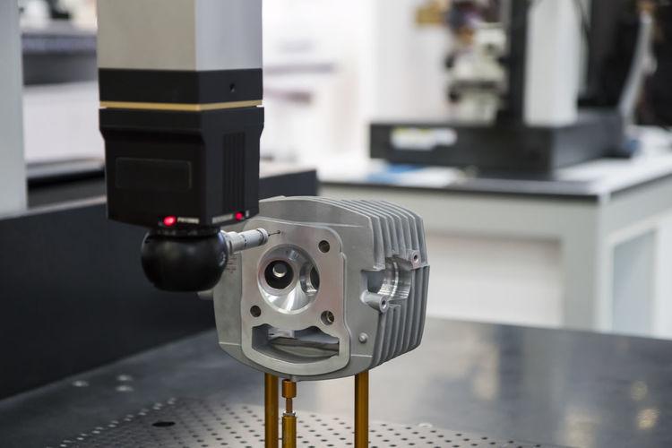 Close-up of robotic arm