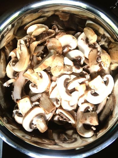 Bowl Of Mushrooms Food And Drink Food Freshness High Angle View Abundance Close-up Group Of Objects Appetizer Meal Vegetarian Food