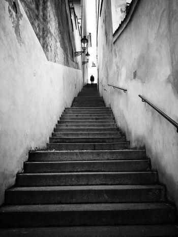 Stairs... Streetphotography Prague Blackandwhite Urban Life