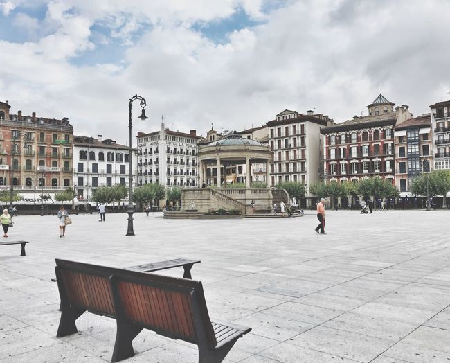 Town square in city