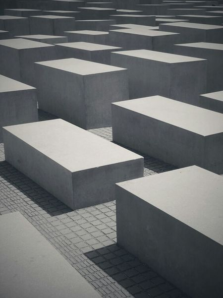 Berlin Germany Holocaust Memorial Monument Black And White Black & White Monochrome Contrast Blocks Structure