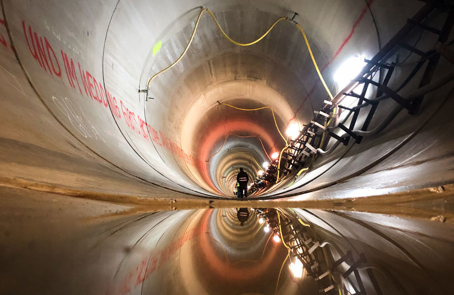 Illuminated No People Lighting Equipment Motion Long Exposure Light Trail Indoors  Transportation Metal Night Architecture Direction Pattern Speed Road The Way Forward Tunnel Nature Land Vehicle