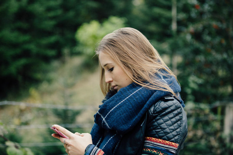 Adventure Autumn Beautiful Woman Fall Fall Colors Fall Leaves Forest Lifestyles Mobile Phone Mobile Phone Mood Nature Nature One Person Outdoor Outdoors Outside People Tree Trees Wireless Technology Woman Woods Young Adult Young Women