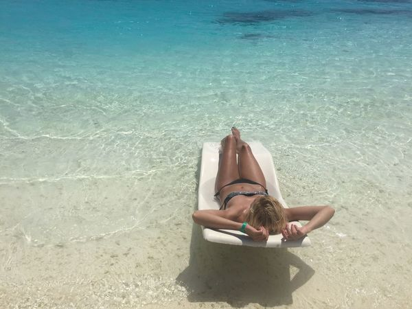 Relaxation Vacations One Person Travel One Woman Only Only Women Adults Only Tropical Climate People Lifestyles Serene People Sea Summer Beach Women Wellbeing Water Leisure Activity Adult Young Women Maldives Maldivesphotography Maldives Islands Fitgirls Fitgirl