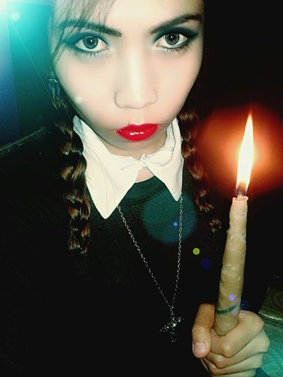 Inspired by Wednesday Addams Happy Halloween 2015