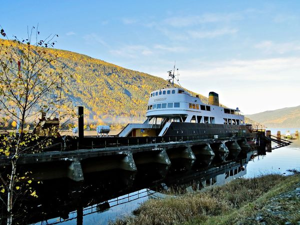 Architecture Autumn Beauty In Nature Boat Boats Built Structure Day Ferryboat Mountain Nautical Vessel Outdoors Sky Telemark Transportation Transportation Vessel In Port Vessels Vessels In Port Water Ww2