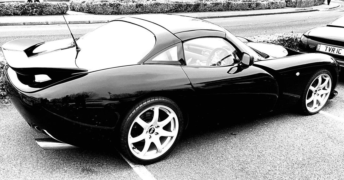Vroom High Performance Racing Car Motorsport Fast Cars Blackandwhite Tvr