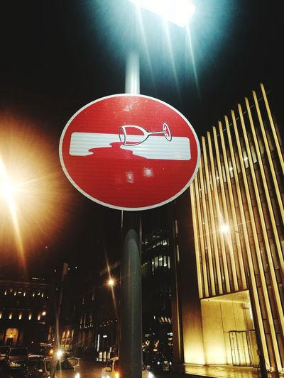 HuaweiP9 Huaweiphotography Graffiti Streetphotography Street Art Street Art/Graffiti Clet Abraham Illuminated Red Communication Light Beam Stop Sign Stoplight Road Signal Road Sign Road Warning Sign Do Not Enter Sign Spotlight