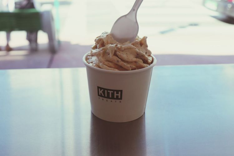Frozen Yogurt Cereal Kith Kith Treats EyeEm Selects Indoors  Table Food And Drink Text No People Focus On Foreground First Eyeem Photo Food Stories