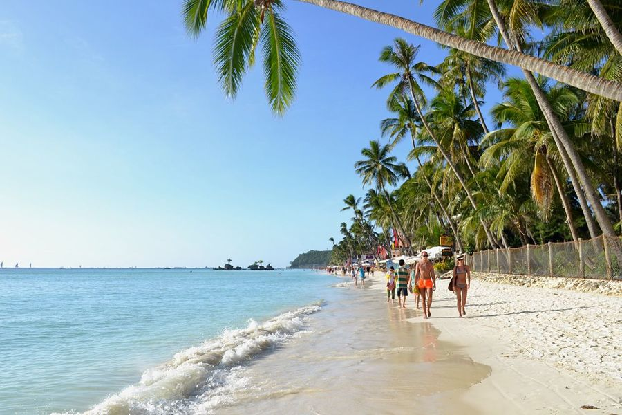 What I need right now. 🌞 Sea Palm Tree Beach Clear Sky Real People Travel Destinations Vacations Scenics Tranquil Scene Outdoors Tropical Climate Beach Photography Boracay Island, Philippines EyeEm Nature Lover Eye Em Philippines Beauty In Nature Waterfront Non-urban Scene NikonD3100
