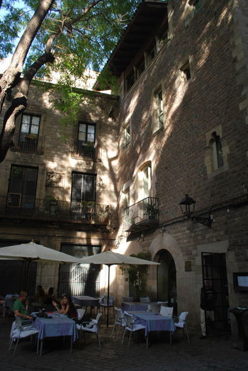 Adult Adults Only Architecture Balcony Barcelona Barcelona, Spain Building Building Exterior Built Structure Catalonia Catalunya Chair City Day Large Group Of People Men Outdoors People Shadow Sky SPAIN Table Tree Women