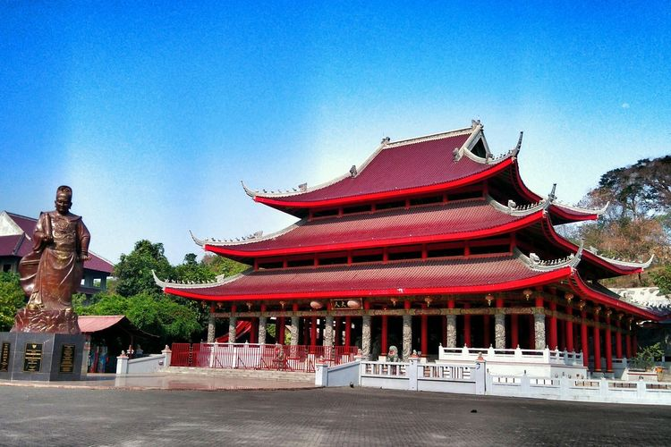 Sam Poo Kong Temple Statue Heritage History Architecture Red Vacation Weekend Semarang