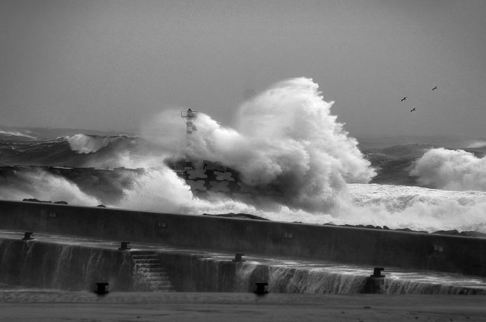 Azores Cloudy Cold Temperature Farol Outdoors Povoação Power In Nature Sea Storm Stormy Sea Weather Winter