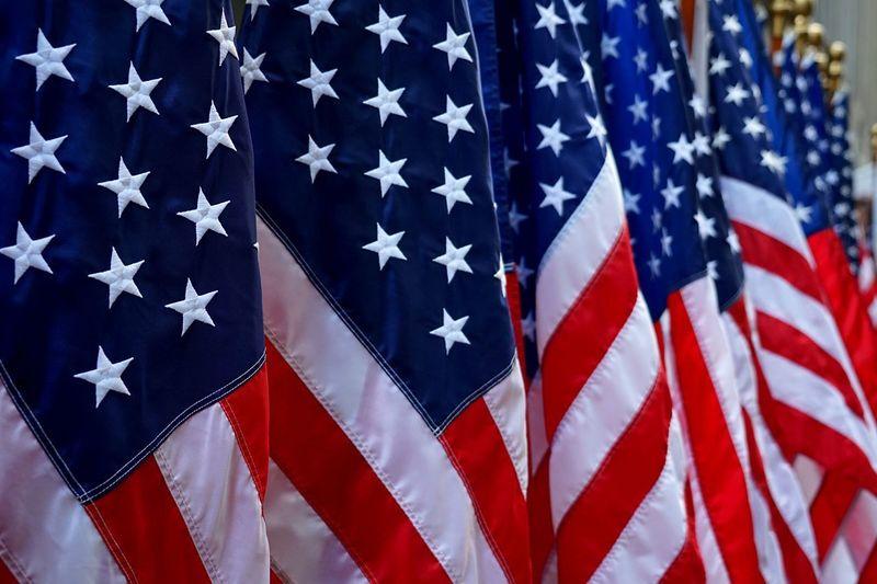 USA Flag Red