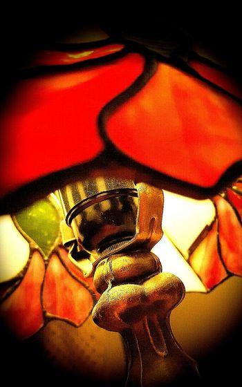 Lamp Lamp Shade  Tiffany Lamp Red Lights