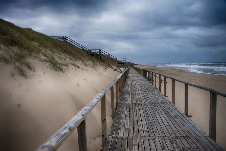 Sylt, Germany Sylt Sylt Strand Meer Strand Cloud - Sky Sky Water Wood - Material Sea Land Scenics - Nature Beauty In Nature Nature Beach Railing Day Outdoors Pier No People Tranquil Scene Boardwalk Non-urban Scene Horizon Over Water Wood Wood Paneling Long