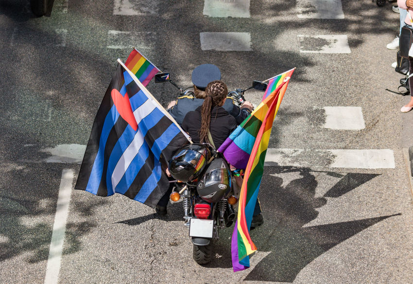 Stockholm Pride Parade 2017 Stockholm Pride 2017 Day Flag Flags Lgbt Motocycle Outdoors Parade Pride Parade 2017 Love Is Love