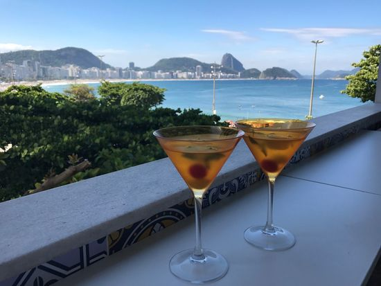 Cocktail Alcohol Drink Sea No People Tree Martini Glass Outdoors Sky Day