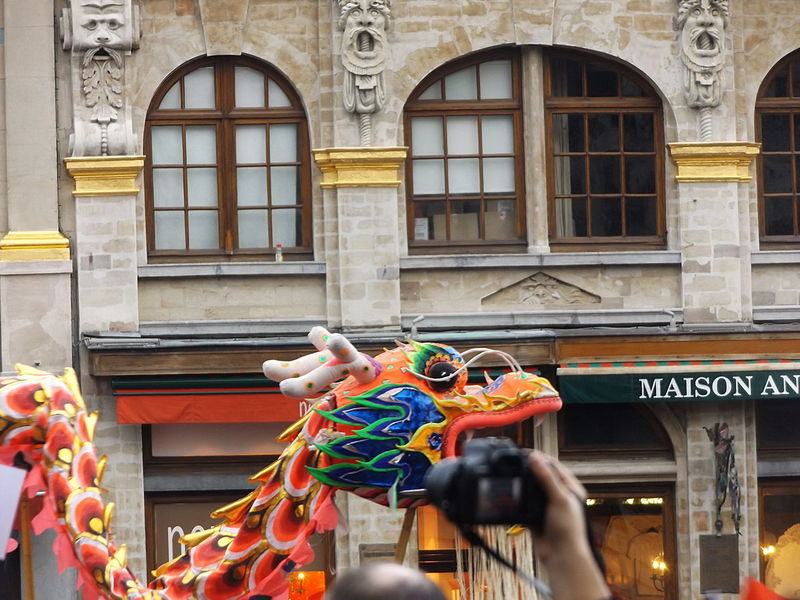 This one dragon in town. Tradition Architecture Building Exterior Building Feature Built Structure City Day Multi Colored Camera - Photographic Equipment Personal Perspective Photographer Outdoors Human Body Part Real People Leisure Activity Historic Place