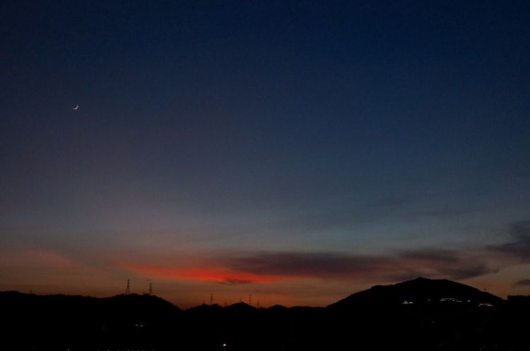 Enjoying Life Afterglow Moon Whereareyou First Eyeem Photo