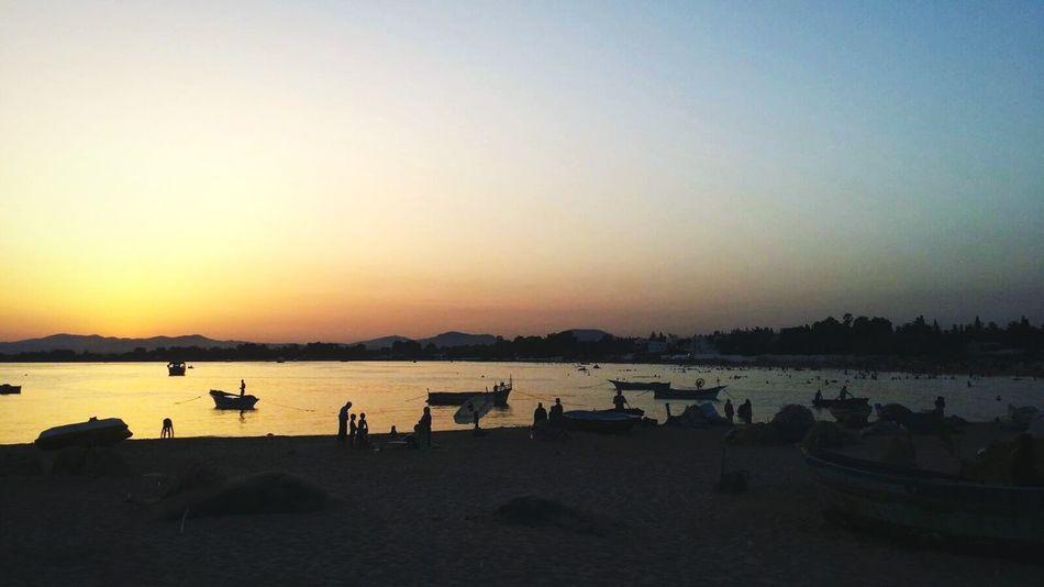 Hammamet Tunisia Sunset Beach Beauty In Nature