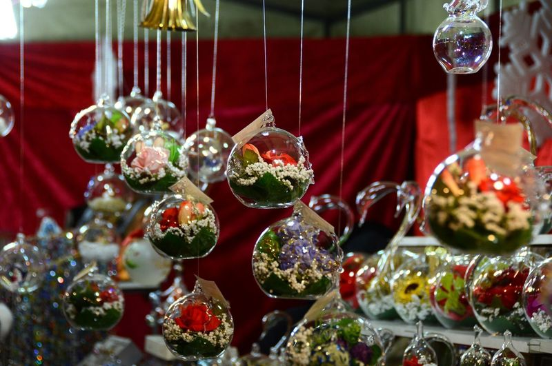 Full frame shot of decorations for sale in store