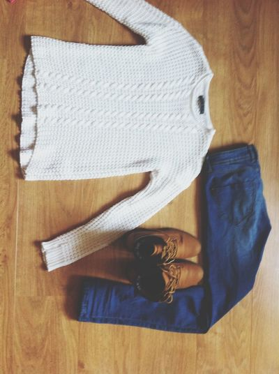 simply ✨ Ootd Outfitoftheday Timberland Pullover WithE Blue Jeans