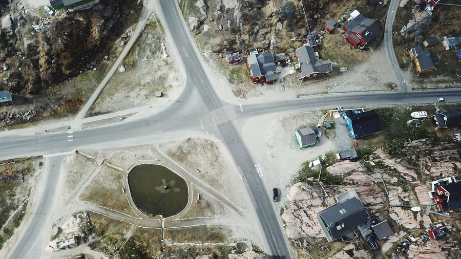 Flying in, for me, unknown territories. Drone  Drone Shot The Real Greenland Car City Cityscape Day Drone Photography Dronephotography Droneshot Mavic Pro Outdoors Road Sisimiut Street Transportation