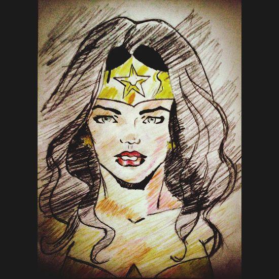 Drawing Wonderwoman Dccomics Geekgirl Batmanvssuperman BatmanVSupermanDawnOfJustice Superhero First Draw Fail Art