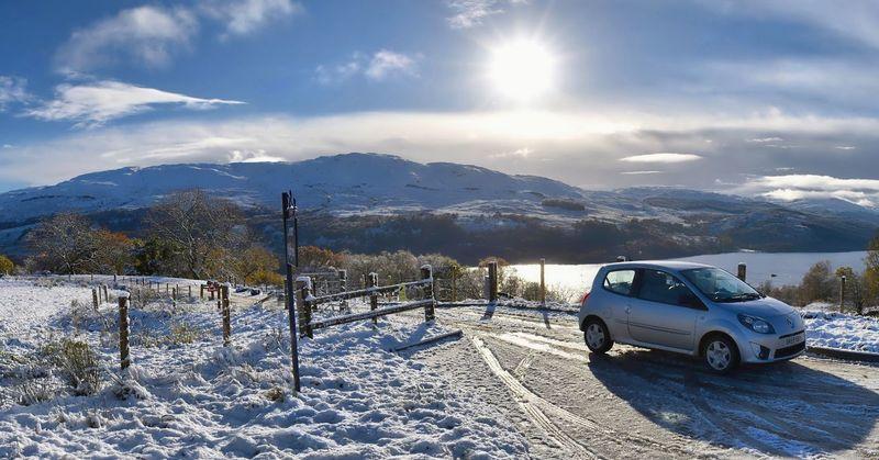TWINGO Renault Loch Tay Killin  Ben Lawers Winter